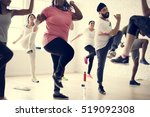 diversity people exercise class ... | Shutterstock . vector #519092308
