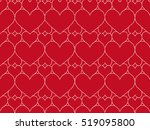 red leather background with... | Shutterstock .eps vector #519095800