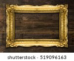 old picture frame on wooden...   Shutterstock . vector #519096163