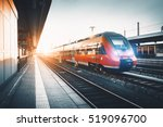 modern high speed red commuter... | Shutterstock . vector #519096700