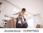 cheerful young boy having fun... | Shutterstock . vector #519097003