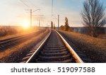 railway station against... | Shutterstock . vector #519097588