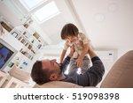 cheerful young boy having fun... | Shutterstock . vector #519098398