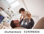 cheerful young boy having fun... | Shutterstock . vector #519098404