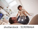 cheerful young boy having fun... | Shutterstock . vector #519098464
