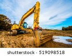 Large Excavator On A Field