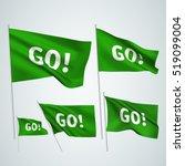 go    green vector flags. a set ... | Shutterstock .eps vector #519099004