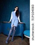 beautiful sexy young woman... | Shutterstock . vector #519104083