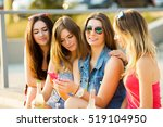 friends in sunglasses taking... | Shutterstock . vector #519104950
