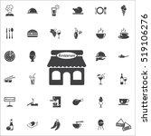 restaurant icon on the white... | Shutterstock .eps vector #519106276