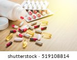 colorful tablets and dietary...   Shutterstock . vector #519108814