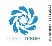 abstract splash water logo...   Shutterstock .eps vector #519118228
