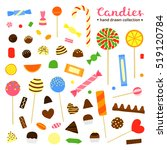 collection of cartoon colorful... | Shutterstock .eps vector #519120784