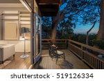 wooden deck   balcony at night... | Shutterstock . vector #519126334