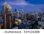 city of bangkok at twilight.... | Shutterstock . vector #519126388