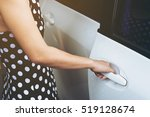 close up woman in dress and her ...   Shutterstock . vector #519128674