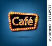 electric bulbs billboard  retro ... | Shutterstock .eps vector #519129799