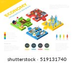 flat isometric modern city and... | Shutterstock .eps vector #519131740