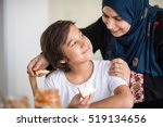 muslim traditional woman with... | Shutterstock . vector #519134656