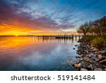 sunrise over dock and the... | Shutterstock . vector #519141484