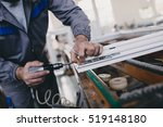 manual worker assembling pvc... | Shutterstock . vector #519148180