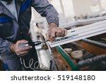 manual worker assembling pvc... | Shutterstock . vector #519148180