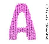 letter a alphabet on a blurry... | Shutterstock . vector #519151510