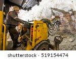 gold mining underground | Shutterstock . vector #519154474