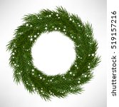 christmas wreath  | Shutterstock .eps vector #519157216