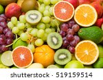 Various Fresh Fruits Backgroun...