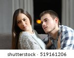 insistent man trying to get sex ... | Shutterstock . vector #519161206