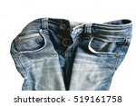 Blue Jeans Isolated On White...