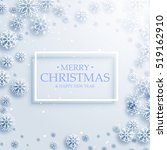 merry christmas background with ... | Shutterstock .eps vector #519162910
