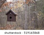 Brown Wood Bird House Hanging...
