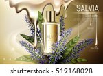 salvia skin care contained in... | Shutterstock .eps vector #519168028