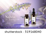 salvia essential oils contained ... | Shutterstock .eps vector #519168040