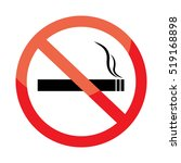 no smoking sign on white... | Shutterstock .eps vector #519168898