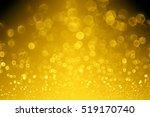 elegant dark black gold glitter ... | Shutterstock . vector #519170740