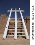 Small photo of Kiva ladder at Acoma Sky City outside Albuquerque, New Mexico