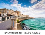 coast of ortigia island at city ... | Shutterstock . vector #519172219