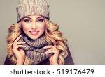 beautiful  young blonde  woman... | Shutterstock . vector #519176479