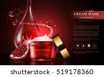 pomegranate cream ads ... | Shutterstock .eps vector #519178360