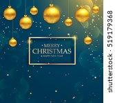 luxury elegant merry christmas... | Shutterstock .eps vector #519179368