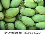 green mango fruit delicious... | Shutterstock . vector #519184120