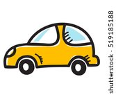 hand drawn vector icon of taxi... | Shutterstock .eps vector #519185188