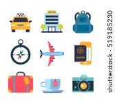 set of color flat icons for... | Shutterstock .eps vector #519185230