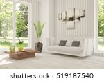 white room with sofa and green... | Shutterstock . vector #519187540
