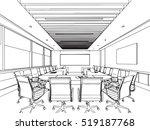 interior outline sketch drawing ... | Shutterstock .eps vector #519187768