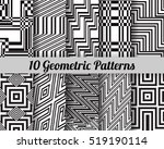 set of 10 geometric patterns.... | Shutterstock .eps vector #519190114