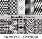 set of 10 geometric patterns.... | Shutterstock .eps vector #519190300